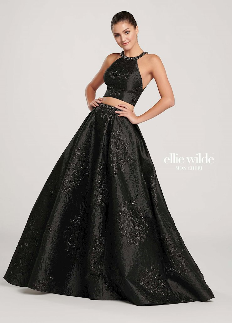 Ellie Wilde Black Two Piece Ball Gown