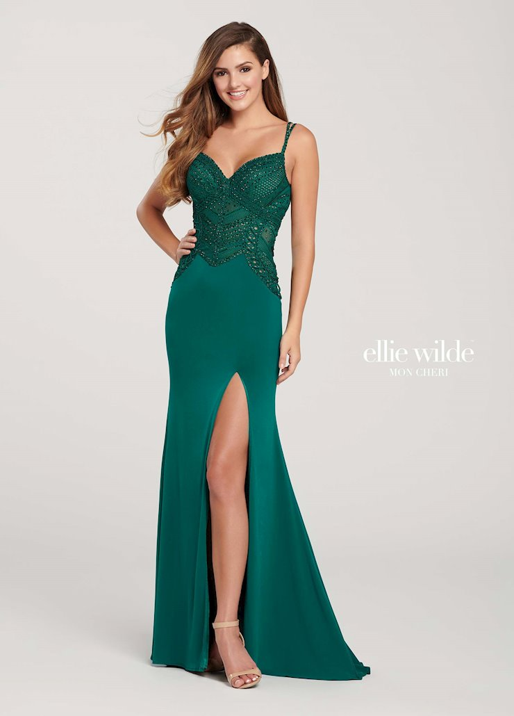 Ellie Wilde Prom Dresses Sexy Green Formal Dress