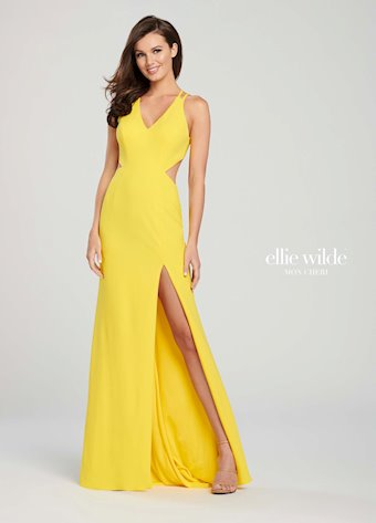 Ellie Wilde Prom Dresses Sexy Long Open Back Prom Dress