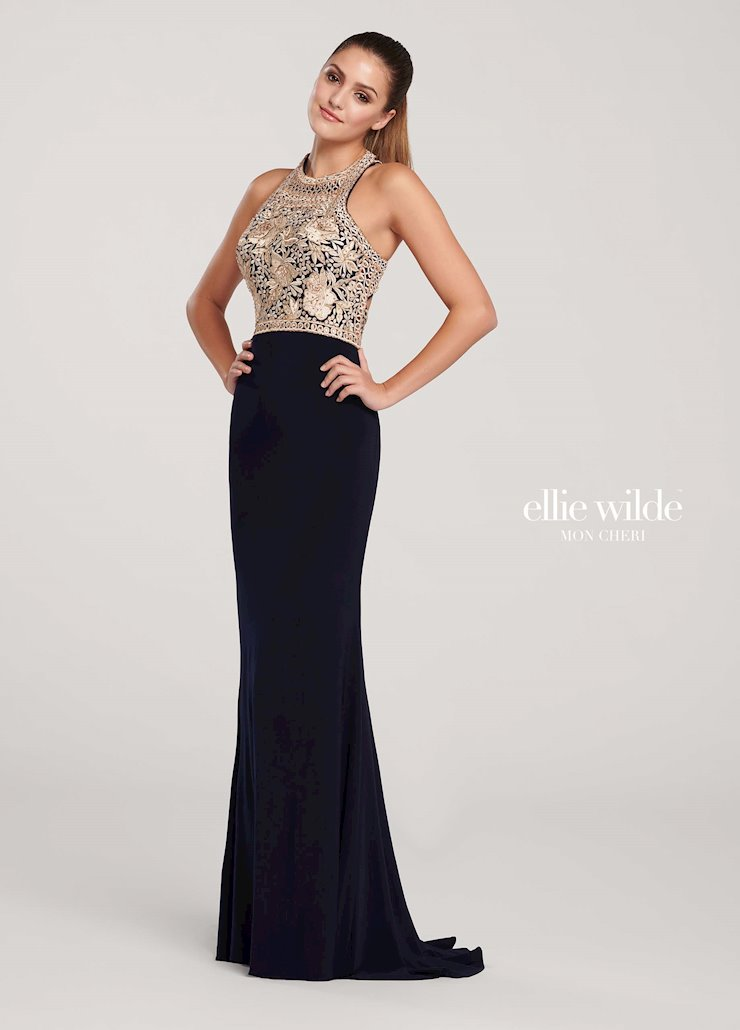 Ellie Wilde Prom Dresses Elegant Fitted Prom Dress