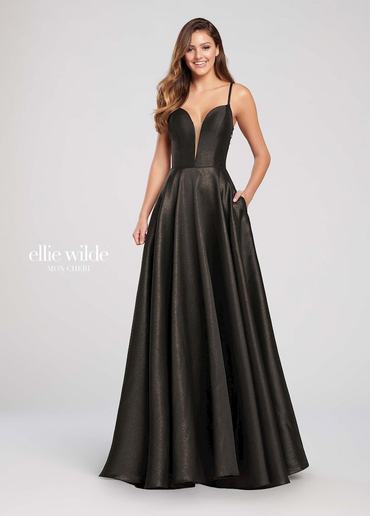 Ellie Wilde Prom Dresses Long A Line Prom Dress