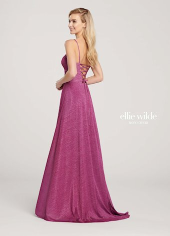 Ellie Wilde Prom Dresses Long Pink Prom Dress