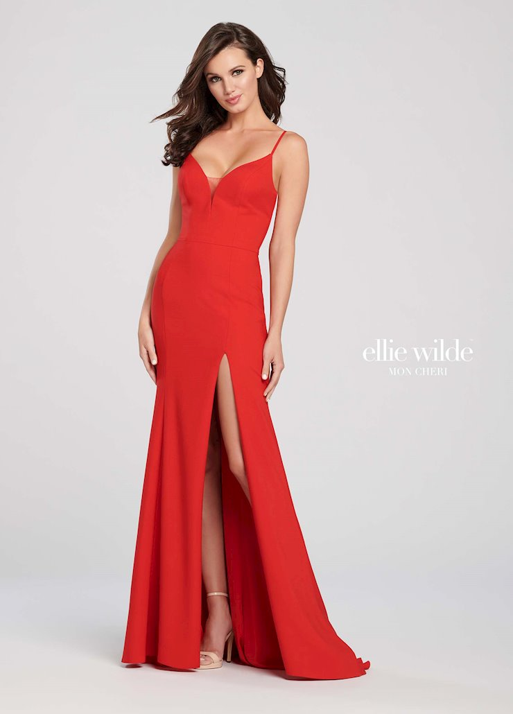 Ellie Wilde Prom Dresses Red Simple Formal Dress