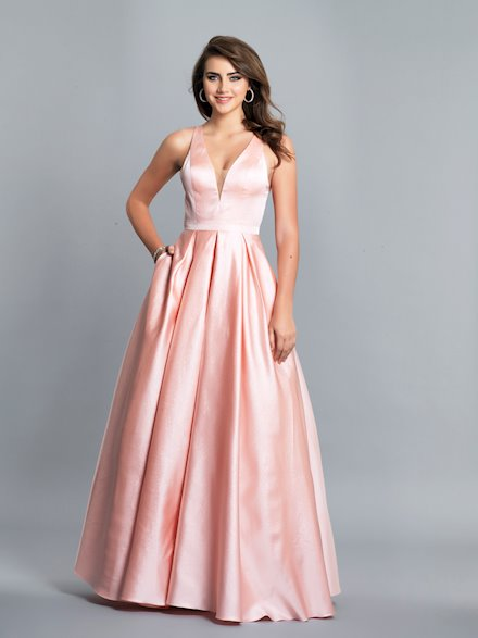 Long Pink Ball Gown