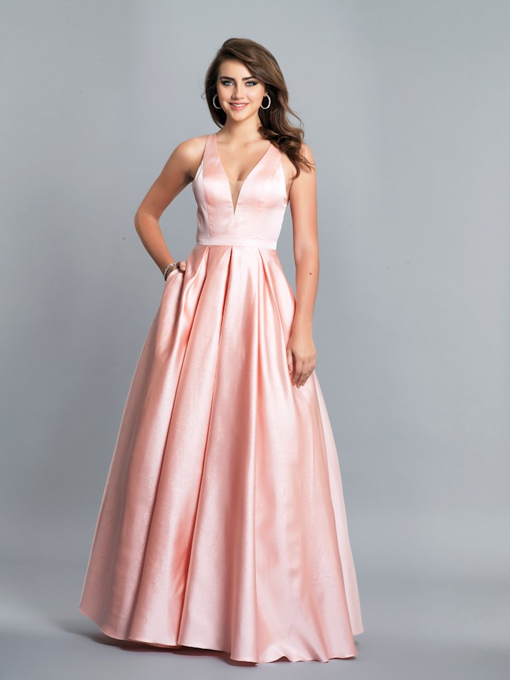 Dave & Johnny Prom Dresses Long Pink Ball Gown