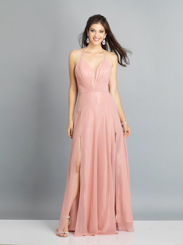 Dave & Johnny Prom Dresses Rose Pink V-Neck Prom Dress