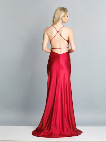 Dave & Johnny Prom Dresses Long Red Satin Prom Dress