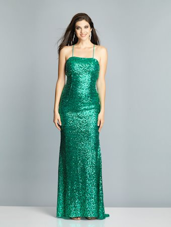 Dave & Johnny Prom Dresses Green Sequin Prom Dress