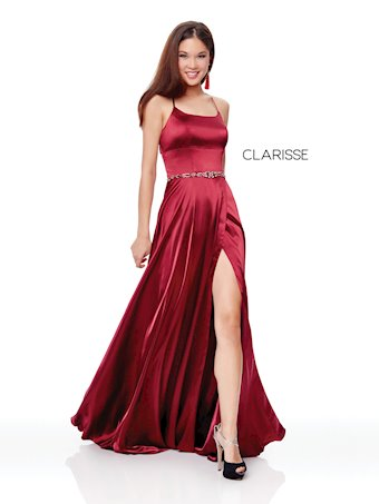 Simple Front Slit Prom Dress