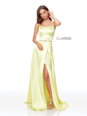 Clarisse Prom Dresses Simple Front Slit Prom Dress