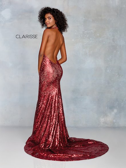 Sexy Open Back Embellished Prom Dress