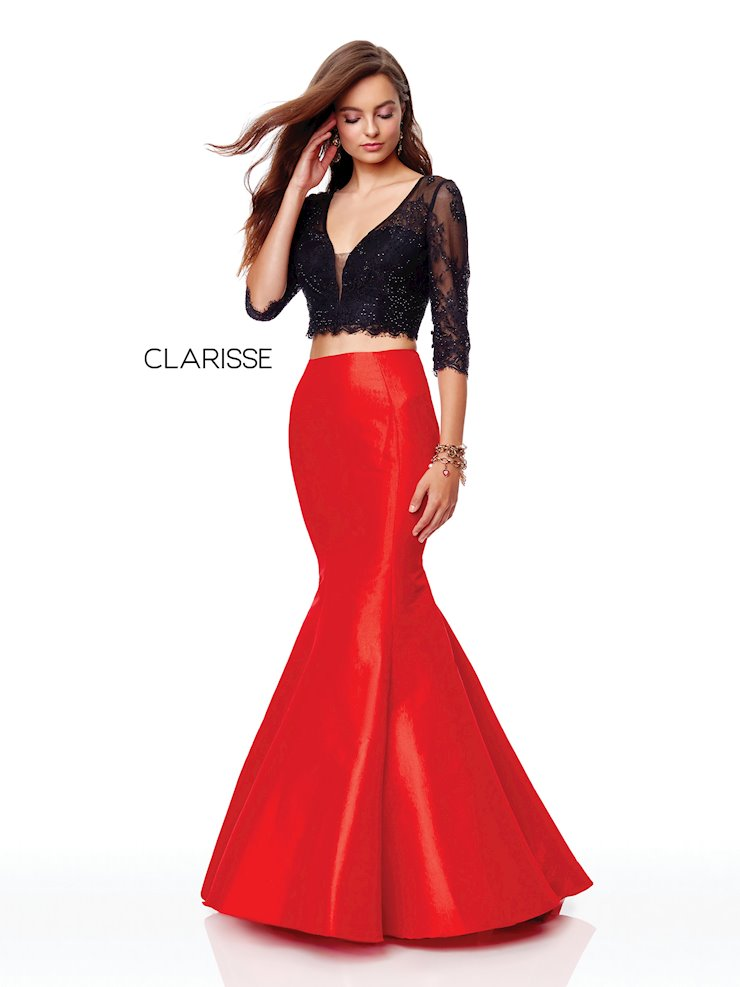 Clarisse Prom Dresses Long Red Mermaid Prom Dress