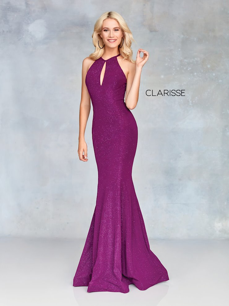 Clarisse Prom Dresses Fitted High Neck Dress with Keyhole