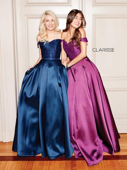 Elegant Off the Shoulder Ball Gown