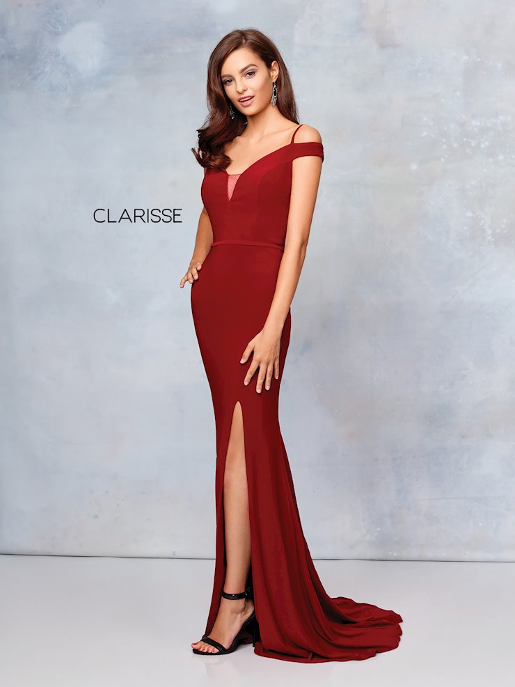 Clarisse Prom Dresses Off the Shoulder Jersey Formal Dress