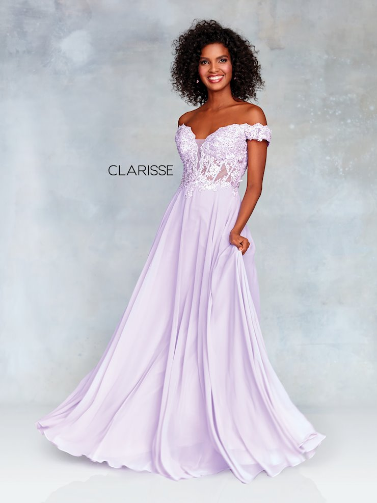 Clarisse Prom Dresses Lilac Off the Shoulder Prom Dress