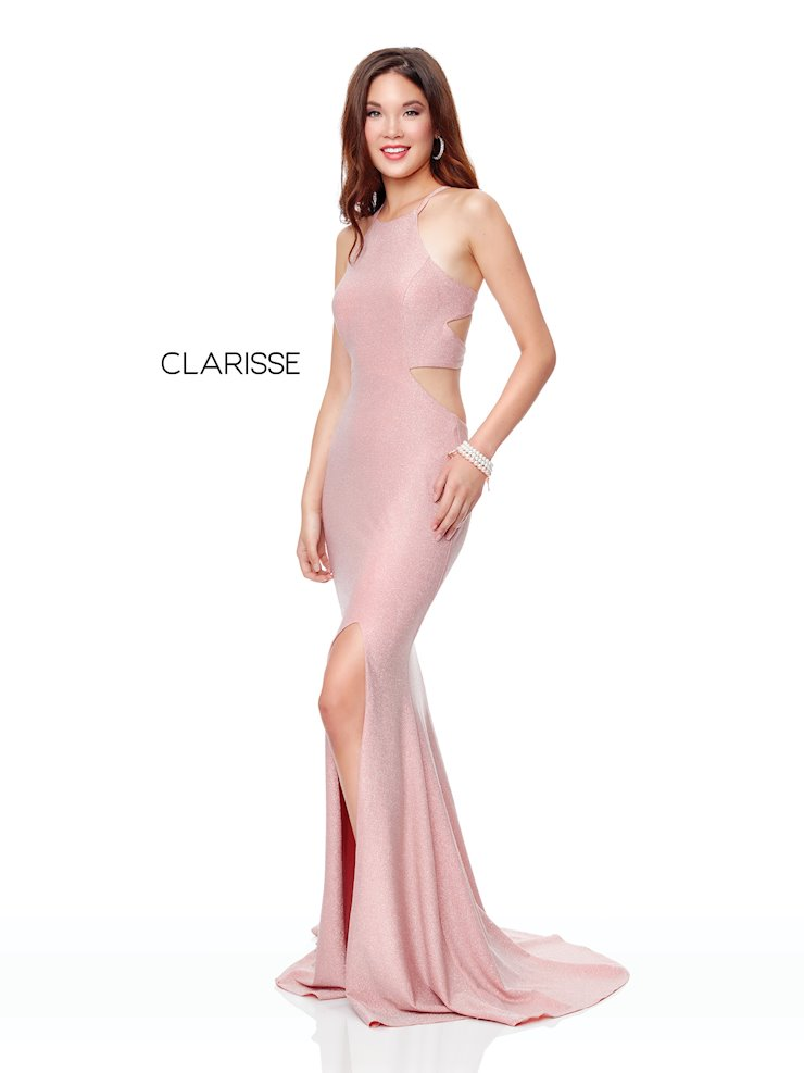 Clarisse Prom Dresses Long Pink Cut Out Dress