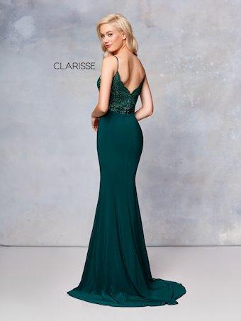 Clarisse Prom Dresses Sexy Low Cut Emerald Green Dress