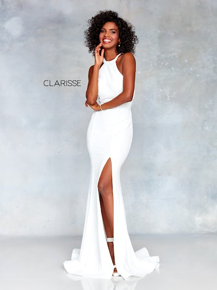 High Neck Ivory Dress