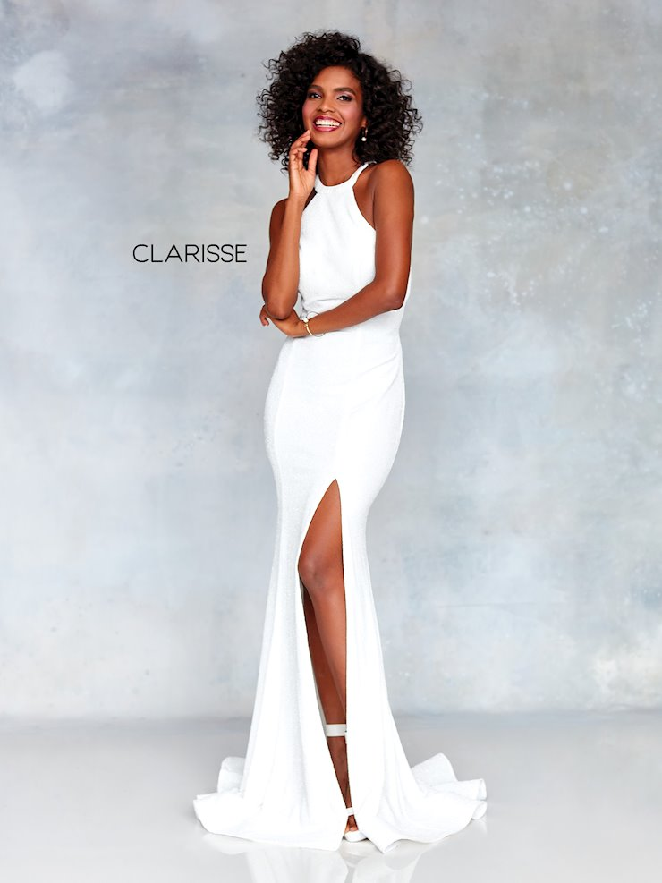 Clarisse Prom Dresses High Neck Ivory Dress