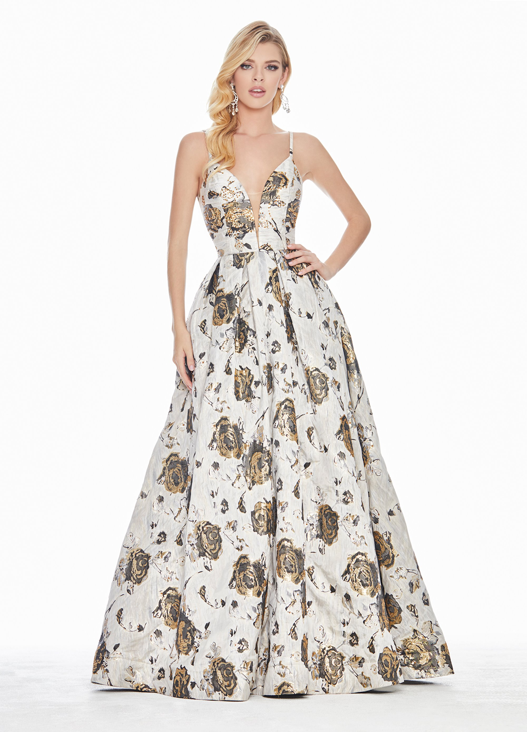 f050800cde6f Ashley Lauren Floral Brocade Ball Gown. Double tap to zoom