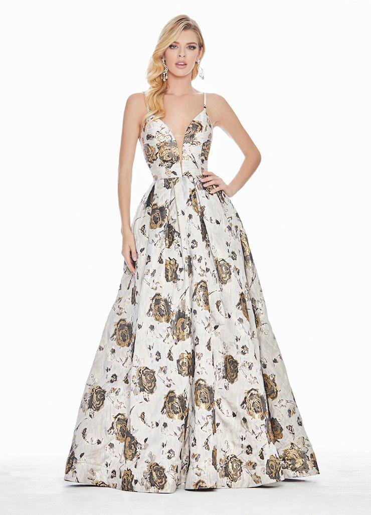 Ashley Lauren Floral Brocade Ball Gown Image