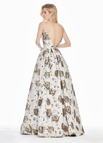 Ashley Lauren Floral Brocade Ball Gown