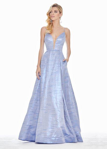 Ashley Lauren V-Neckline Brocade Ball Gown