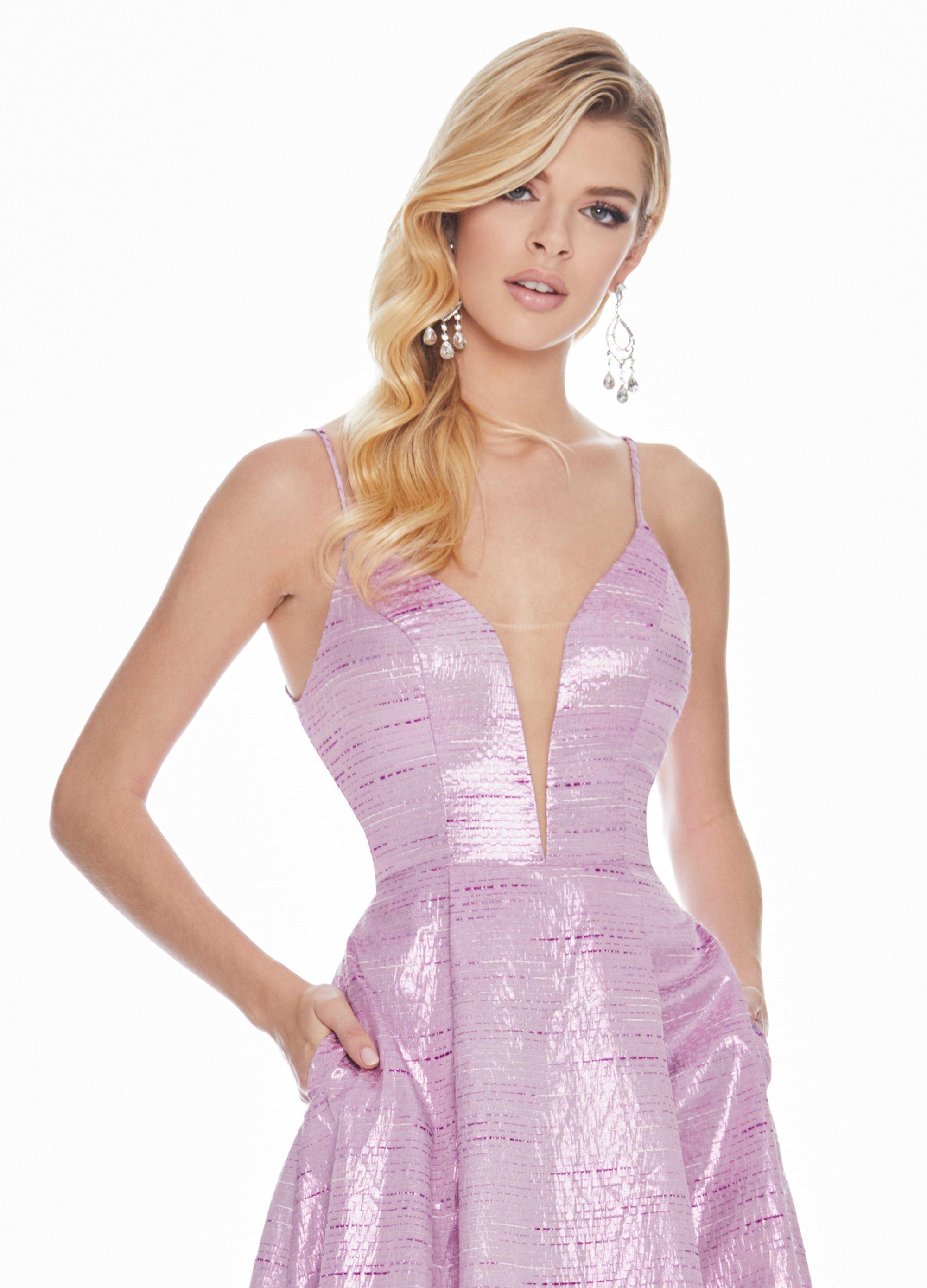 7e3382fe64358f Ashley Lauren V-Neckline Brocade Ball Gown. Double tap to zoom