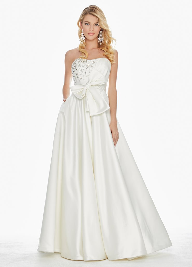 Ashley Lauren Bow Adorned Ball Gown Image