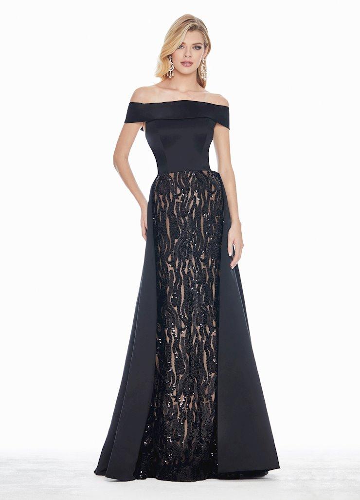 Ashley Lauren Off the Shoulder Dress with Overskirt Image