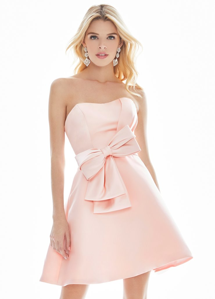 Ashley Lauren Bow Adorned Cocktail Dress