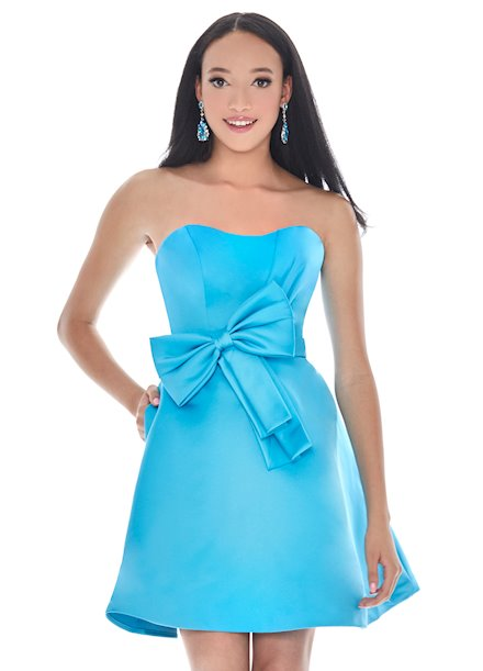 Ashley Lauren Bow Adorned Cocktail Dress