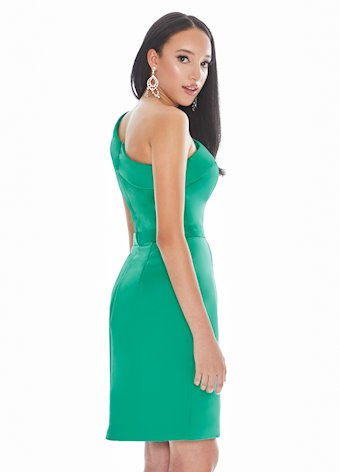 Ashley Lauren One Shoulder Satin Cocktail Dress