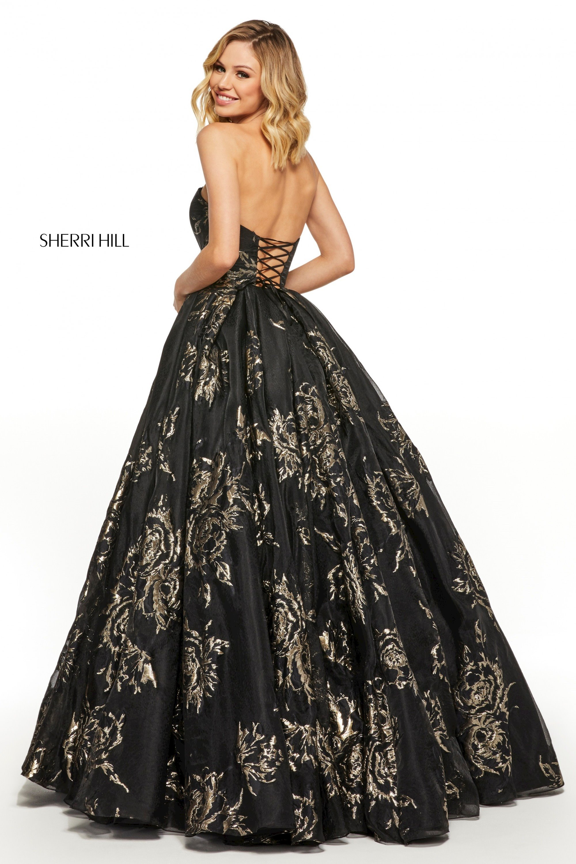 Prom Dresses Sherri Black and Gold