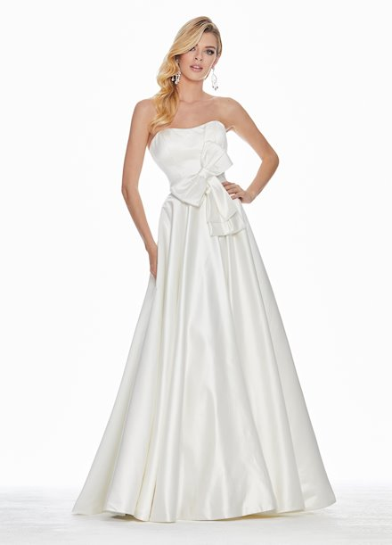 Ashley Lauren Bow Adorned Ball Gown