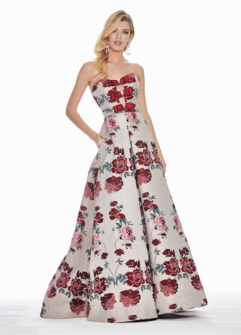 Ashley Lauren Metallic Rose Ball Gown