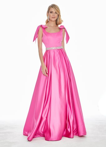 1383 Evening Dress with Bows on Shoulders
