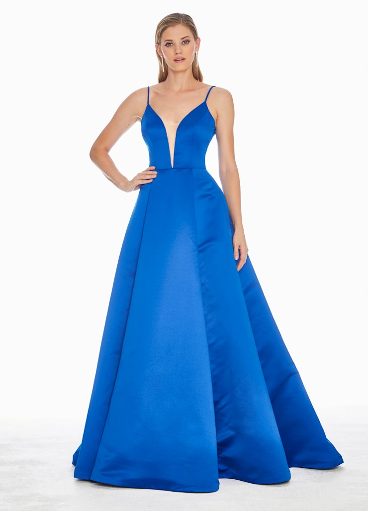 Ashley Lauren V-Neckline Satin Ball Gown Image