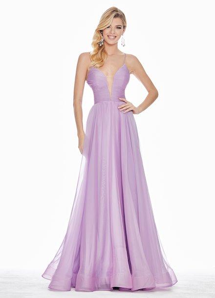 Ashley Lauren Chiffon A-Line Evening Dress