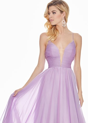 Ashley Lauren Chiffon A-Line Evening Dress
