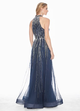 Ashley Lauren Sequin Embellished A-Line Evening Dress