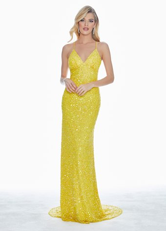 Ashley Lauren Sequin Gown with Open Back
