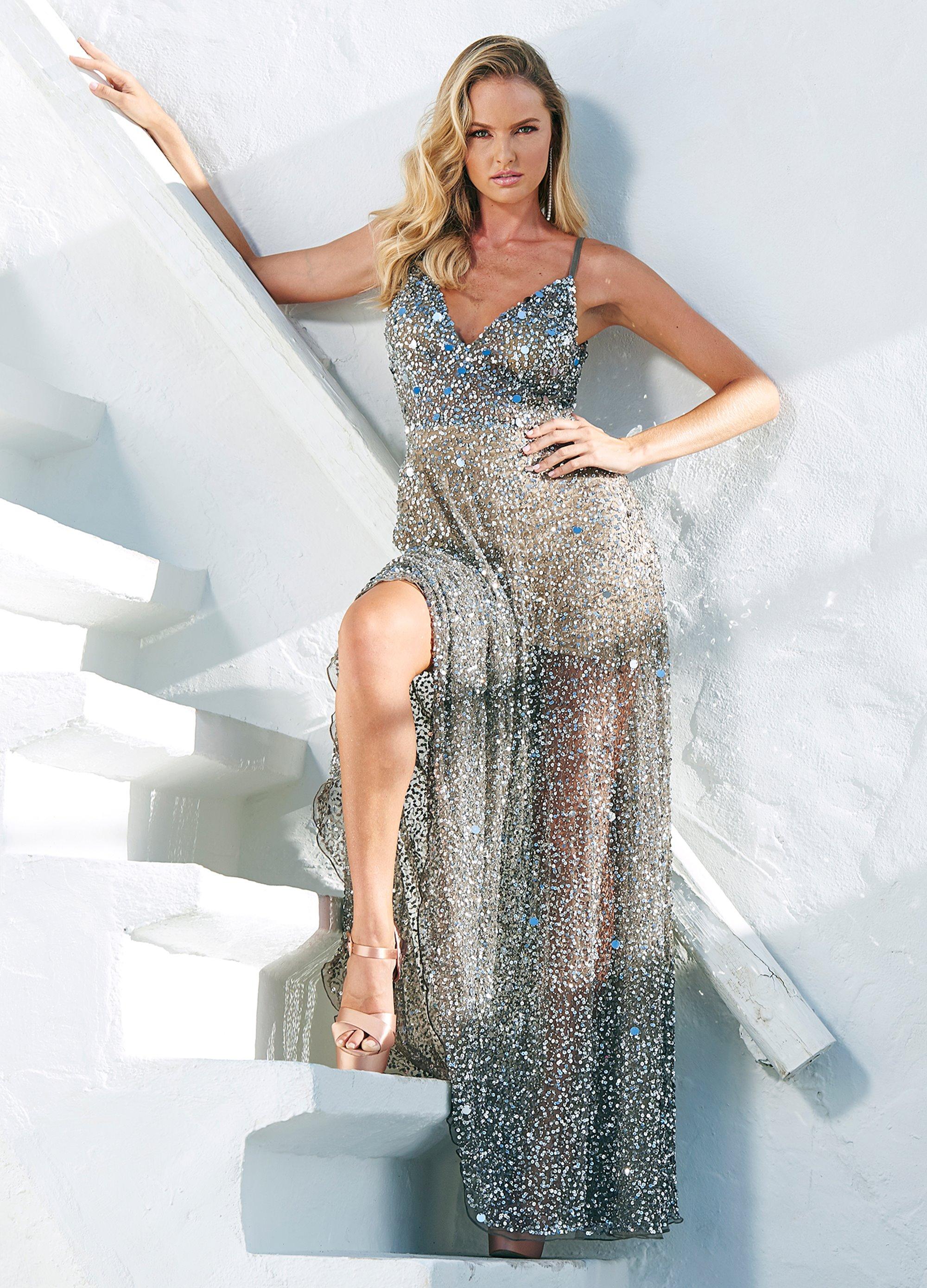 f09758a65041 Ashley Lauren - Fully Beaded A-Line Evening Dress | ASHLEYlauren
