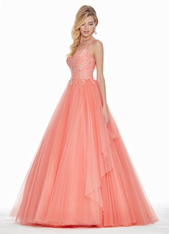 Ashley Lauren Pleated Tulle Ball Gown