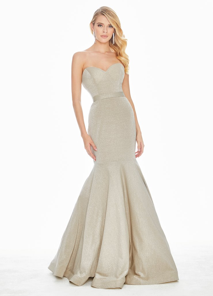 Ashley Lauren Metallic Fit & Flare Evening Dress
