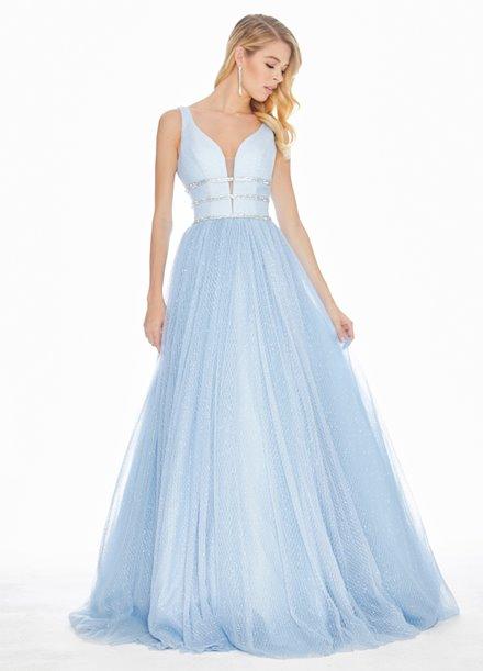Ashley Lauren Glitter Tulle Ball Gown