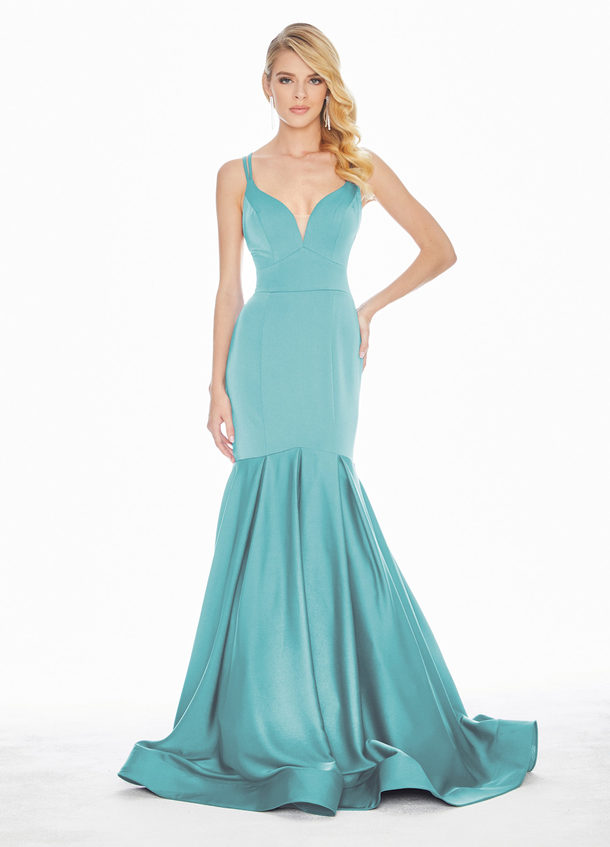 Ashley Lauren Crepe Fit Amp Flare Evening Dress Ashleylauren