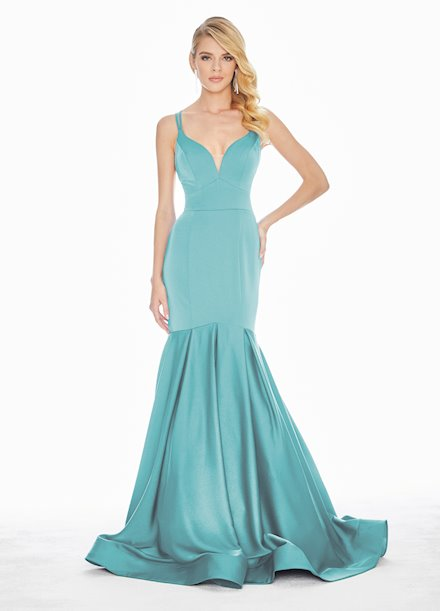 Ashley Lauren Crepe Fit & Flare Evening Dress