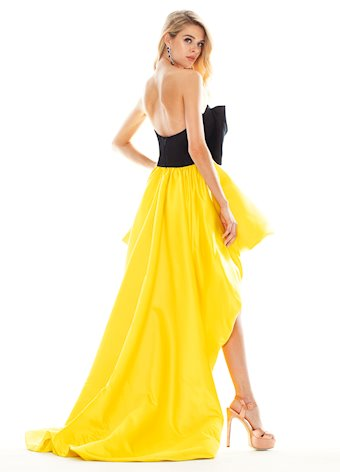 Ashley Lauren Bow Adorned Bubble Skirt Evening Dress